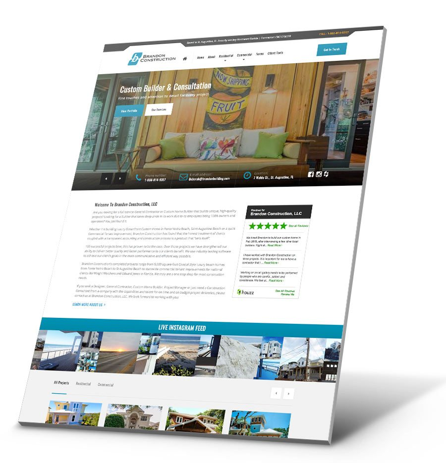 Brandon Construction WordPress Website Design