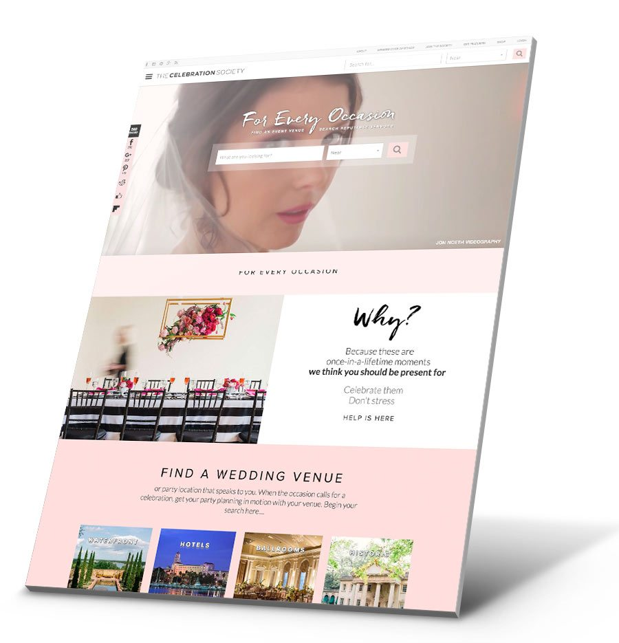 The Celebration Society WordPress Website Design