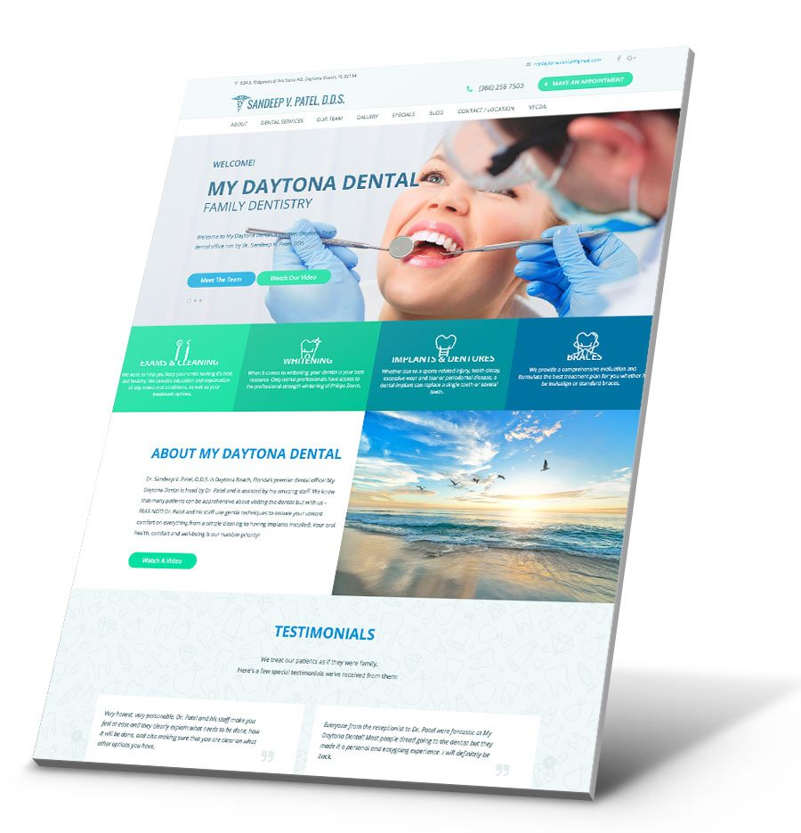 Dr. Sandeep Patel WordPress Website Design