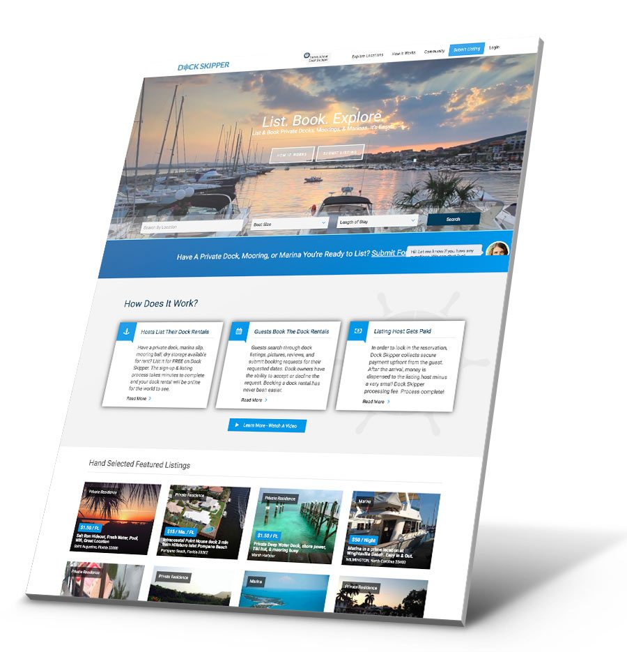 Dock Skipper WordPress Website Design