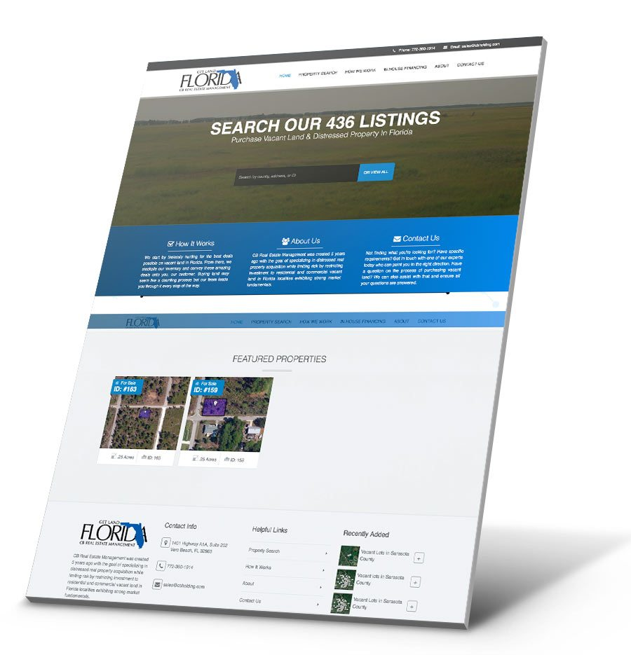 Get Land Florida WordPress Website Design