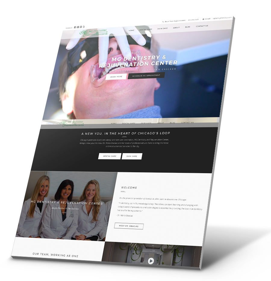 MG Dentistry WordPress Website Design