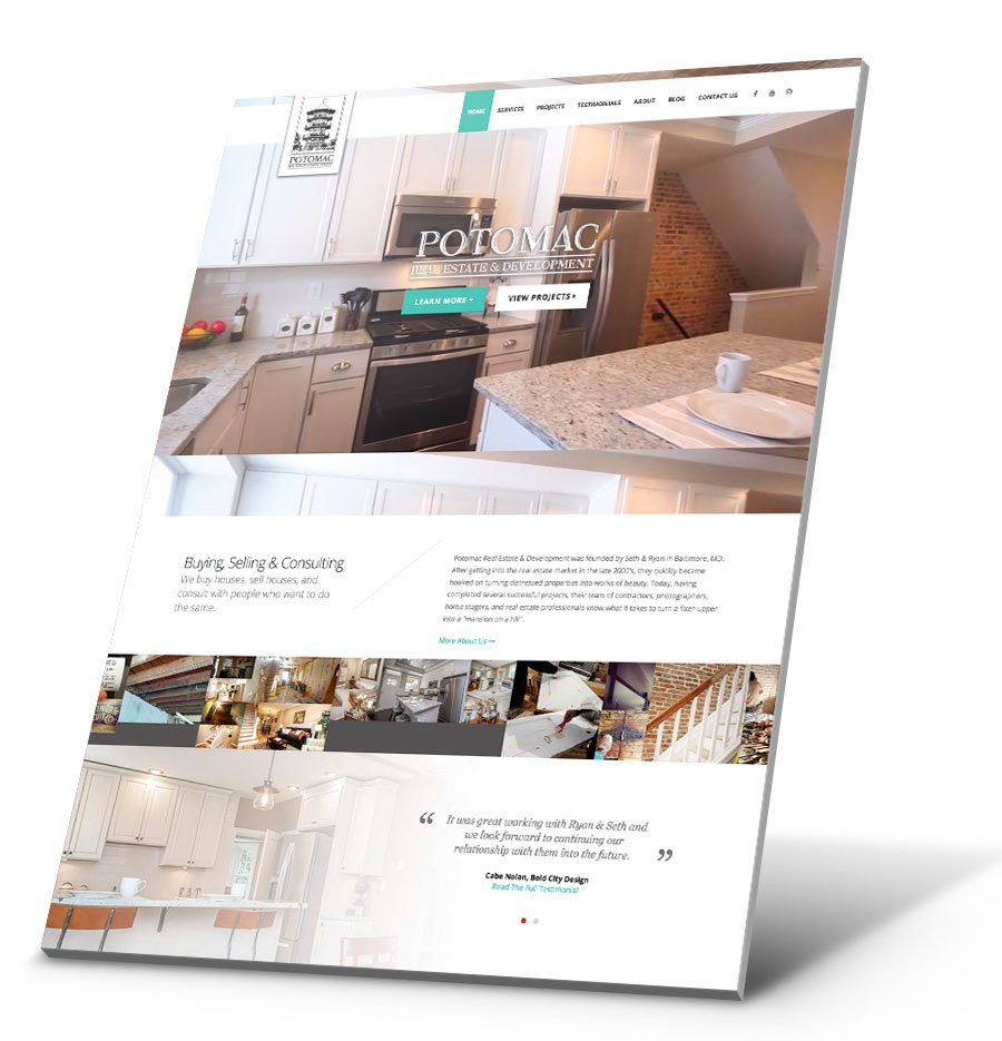 Potomac Real Estate WordPress Website Design