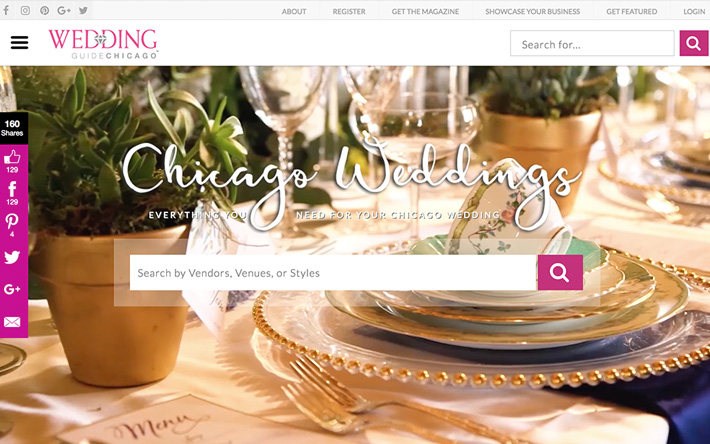 Jacksonville Web Design Case Study on Wedding Guide Chicago