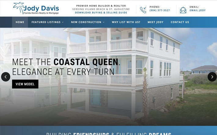 Jacksonville Web Design Case Study on Vilano Homes